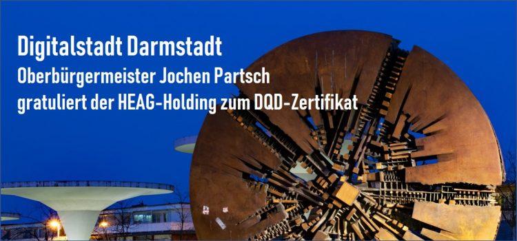 Oberbürgermeister Jochen Partsch gratuliert zum DQD-Zertifikat